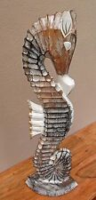 Hand Made Decorative Wooden Seahorse -Shabby chic Style 60cm