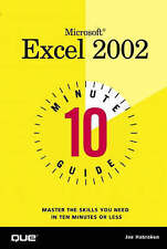 10 Minute Guide to Microsoft Excel 2002 (Ten Minute Guides),VERYGOOD Book