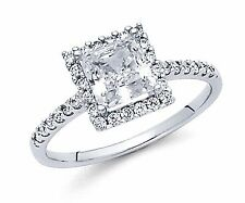 1.70 Ct 14K Solid White Gold Princess Cut Diamond Solitaire Engagement Ring