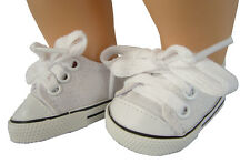 White Canvas Sneakers Shoes made for Bitty Baby + Twins Doll Clothes