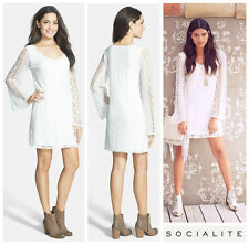 SOCIALITE   BOHO  V-NECK LACE  SHIFT TUNIC  DRESS    Sz S   Nordstrom   NEW  $58