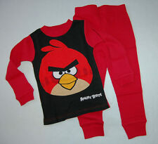 Boys Thermal Set LONG UNDERWEAR Red ANGRY BIRDS Size 4