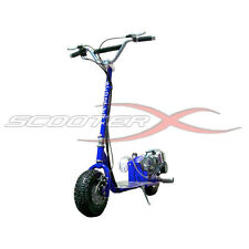 Fast ScooterX 49CC Racing All Terrain GAS Motor SCOOTER mo-ped Dirt Dog Blue