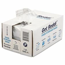 Get Reddi Poly Food Storage Plastic Bags Pint Size - 4 x 2 x 8 - 1000 Count