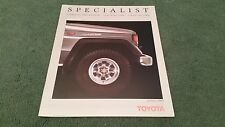 April 1989 TOYOTA COROLLA 4WD ESTATE + SPACECRUISER LANDCRUISER - UK BROCHURE ds
