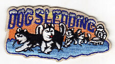 """""""DOG SLEDDING"""" -  IRON ON EMBROIDERED PATCH - DOGS - SPORTS - WINTER - SLEDS"""