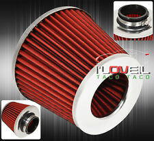 """3"""" PERFORMANCE HIGH FLOW WASHABLE CAR/TRUCK/SUV AIR INTAKE FILTER RED FOR CHEVY"""