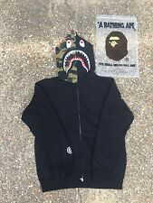 New Men's A Bathing Ape Bape Camo Shark Zip Up Hoodie *SIZE XL* Authentic