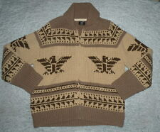 Ralph Lauren POLO Wool THUNDERBIRD Southwest Cowichan USA FLAG Knit Cardigan L