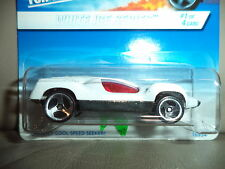HOT WHEELS WHITE ICE SERIES SPEED MACHINE 1/4 NEW ON CARD 3SP WHEEL 1:64