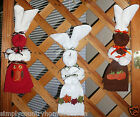 KITCHEN BUNNIES~Handcrafted~Wall Decor~Autumn Designs Vary~NEW~FREE SHIP