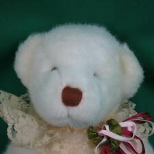 VINTAGE MADE IN KOREA BARE LAND FULLY JOINTED WHITE TEDDY BEAR PLUSH SUEDE PAWS