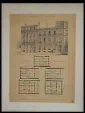 MARSEILLE, 59 BOULEVARD PERIER - 1895 GRANDE LITHOGRAPHIE - MULLER LELONG