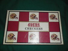 San Francisco 49ers vs. Cowboys Classic Checkers Board Game  VGUC