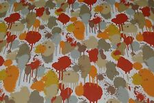 "MILL CREEK NEDDICK ORANGE MODERN ART ABSTRACT OUTDOOR FABRIC BY THE YARD 54""W"