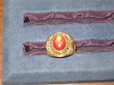 Eagle Scout Ring Size 10, Eagle emblem in red stone, gold color  c2 #6