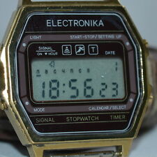 $$$ VERY RARE SOVIET Russian WATCH ELEKTRONIKA Digital LCD Electronika sport old