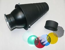 Strobe Flash Reflector Super Snoot + Honeycomb Grid Fit Bowens S Type