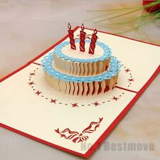 Happy Birthday Cake 3D Pop Up Greeting Card