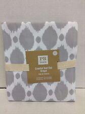 Pottery Barn PB Teen Ikat Coastal Gray Lined Drapes Curtains Panels 44x63 beach