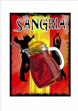 Sangria Cocktail  Novelty Metal Wall Sign  Sign Pub Sign Tapas Bar Spanish Bar