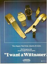 1980 Wittnauer Watch Jewelry Watches Print Ad Vintage Advertisement VTG 80s