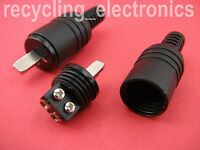 2 X 2 PIN Speaker Din Plugs Easy Fit Terminal for Philips B&O Grundig (2 Plugs)
