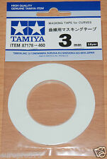 Tamiya 87178 Masking Tape for Curves 3mm Width, 20m Length, for RC Body Shells