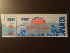 Joe Frazier vs George Foreman 1973 laminated boxing ticket - Kingston, Jamaica