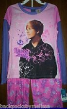 Justin BIEBER Cute HAIRCUT NeW Girl's 10/12 Pink Shirt Pants PAJAMAS Pjs Set