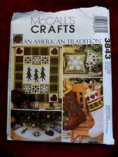 CHRISTMAS DECORATIONS/ MULTI  / CRAFTS/  PATTERN / MCCALLS # 3843  UNCUT