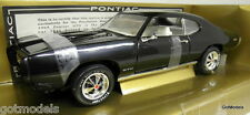 ERTL 1/18 SCALE - 07019 1969 PONTIAC GTO BLACK PEACHSTATE DIECAST MODEL CAR