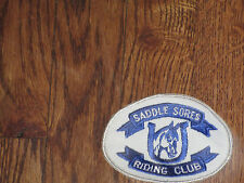 "riding club patch, norco, california,""saddle sores"", new old stock, 1960's"