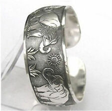 Wholesale New style Tibetan Tibet Silver Totem Bangle Cuff Bracelet