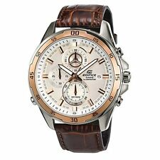 CASIO EDIFICE EFR547L-7A EFR-547L-7A Super Illuminator Leather 100M WR