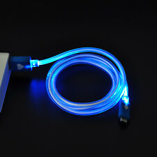 Blue LED Light Visible Android Micro USB Charge Data Sync Cable for Samsung Sony