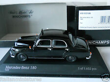 Mercedes Benz 180 Taxi 1955 Black 1/43 Minichamps Mint Condition Limited 1632