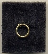 Gold Fake Clip On 12mm Ring Non Piercing Body Jewellery Ear/Nose/Lip