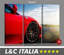 Ferrari 3 QUADRI MODERNI QUADRO ARREDAMENTO CASA UFFICIO AUTO MACCHINA MOTORI