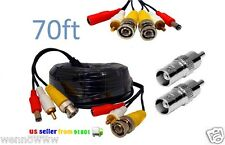 70Ft BNC Video/Power/Audio Cable with extension for Swann Security Cameras