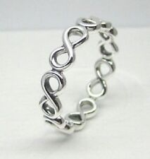 Genuine Pandora Silver Infinite Infinity Love Forever Charm Ring 190994 size 56