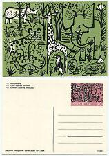 32093 - 100 Jahre Zoologischer Garten Basel, 1974 - alte Ansichtskarte/Ganzsache