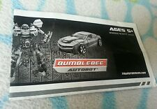 Transformers ROTF DELUXE BUMBLEBEE INSTRUCTION BOOKLET ONLY