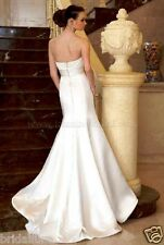 JASMINE 6 ELEGANT IVORY SATIN MERMAID TRUMPET FIT & FLARE MERMAID WEDDING DRESS