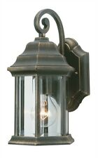 Rustic Barrel Wall Lantern- Orient Appearance- Black&Gold Hanging Light