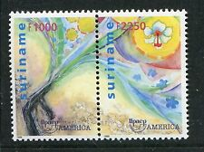 Surinam Scott 1198-99 1199a UPAEP America - Gun, Flower, NH 1999