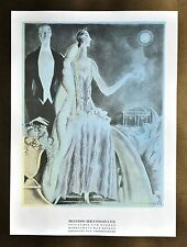 Annie Offterdinger Modezeichnung Fashion Illustration 30x42 20er Max Becker Wien