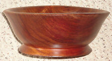 8.75 inch vintage koa wood footed bowl hawaii hawaiian