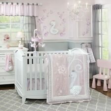 Lambs & Ivy Swan Lake 5 Piece Baby Nursery Crib Bedding Set with Bumper NEW