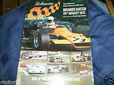 1972 ROTHMANS 50000 PROGRAMME SUPPLEMENT F1 F2 F5000 ATLANTIC EMERSON FITTIPALDI